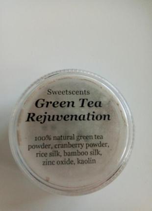 Натуральная минеральная пудра из зеленого чая