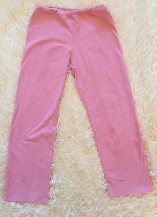 Пижамные розовые брюки для девочки