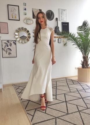 Белое вечернее/свадебное платье
