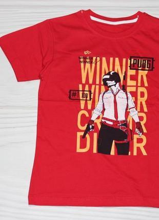 Хлопковая красная футболка с надписями, турция