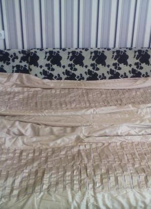 Шикарное огромное одеяло- покрывало золотой беж бренда next  288см на268см
