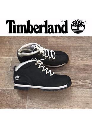 Кожаные ( нубук) ботинки timberland 37,5 ( 24,5 см стелька )