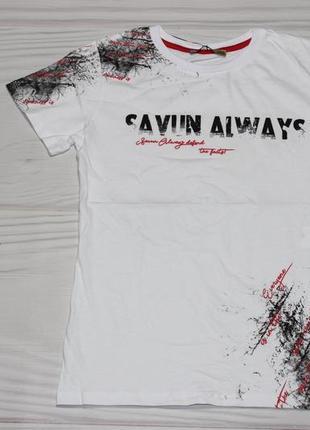 Хлопковая белая футболка с надписями, турция