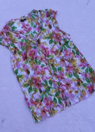 Блуза рубашка летняя шифон marks & spencer
