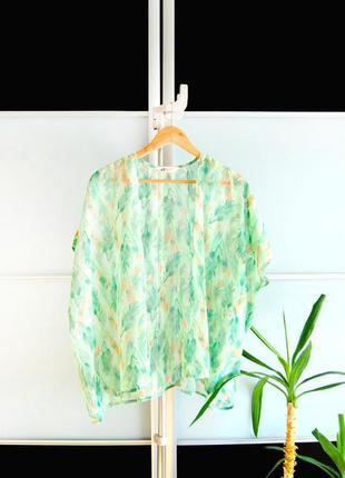 Пляжная накидка кимоно кардиган h&m в перья