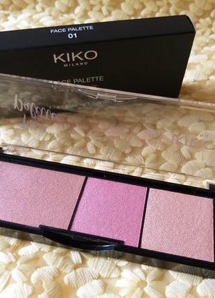 Kiko milano палітра пудр для обличчя face palette палитра пудр для лица 01
