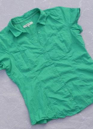 Рубашка хлопок цвет мяты clockhouse