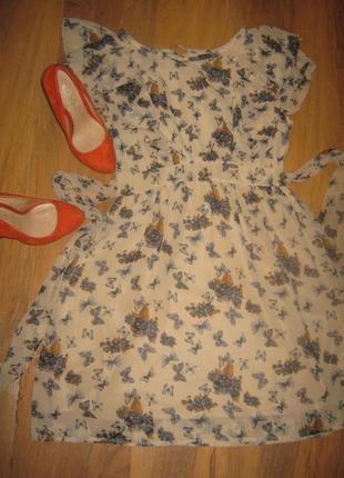 Шифоновое платьице платье с бабочками atmosphere