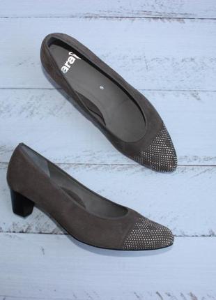 Ara замшевые туфли с декорированным носочком