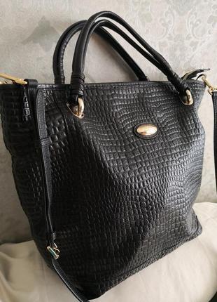 Шикарная большая кожаная сумка furla
