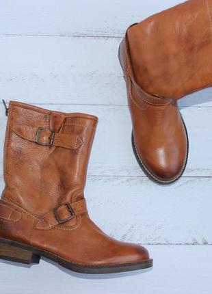 Sacha кожаные сапоги на меху сапожки