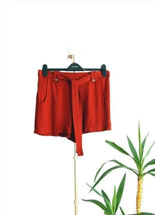 Sale! легкие шорты new look с поясом и карманами