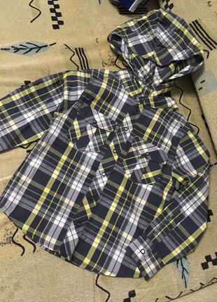Хлопковая рубашка 2-3 года 98см