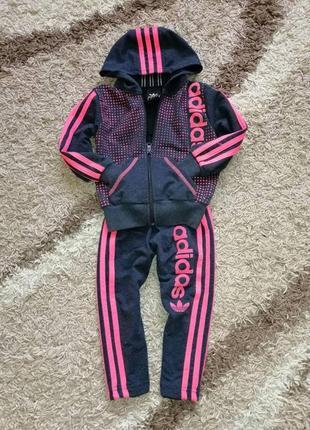 Крутий спортивний костюм adidas для дівчинки 2-3 роки