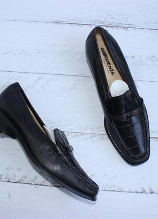 Gardenia italy кожаные туфли на широком каблуке