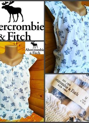 Легкая летняя блуза от американского молодежного бренда  abercombie&finch, оригинал, р.m1 фото