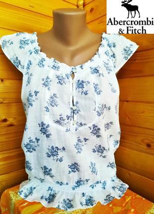 Легкая летняя блуза от американского молодежного бренда  abercombie&finch, оригинал, р.m