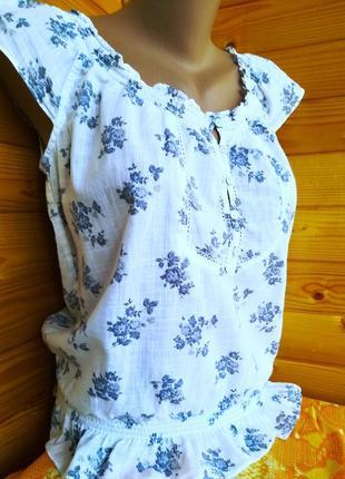 Легкая летняя блуза от американского молодежного бренда  abercombie&finch, оригинал, р.m2 фото