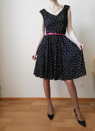 Супер платье в горошек с пышной юбкой