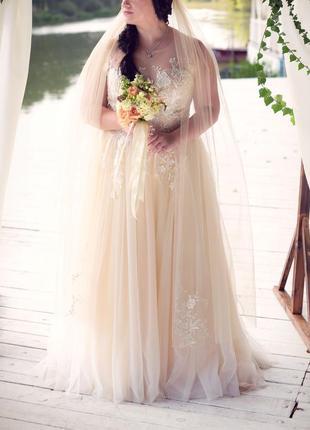 Свадебное платье + накидка