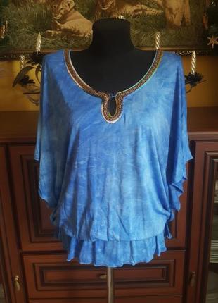 Красивая летняя кофта блуза футболка с бисером