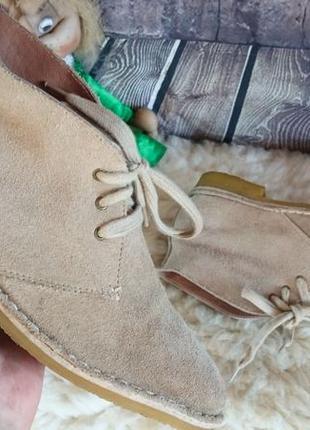 Ботинки дезерты из натуральной замши.