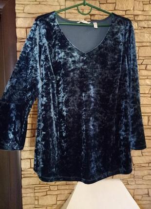Велюр-муар,кофточка,блуза большого размера
