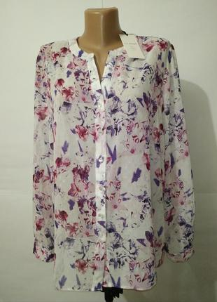 Новая нежная блуза в цветы marks&spencer uk 16/44/,xl