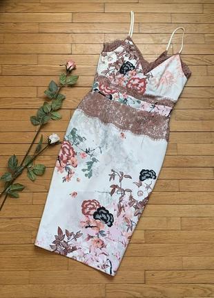 Платье next  размер 12 40 l m цветы кружево