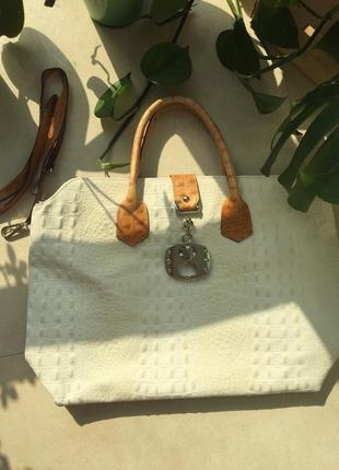 Кожаная сумка genuine leather италия