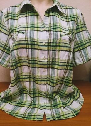 Легкая и тонкая рубашка# блузка в клетку bianca, p.18/16