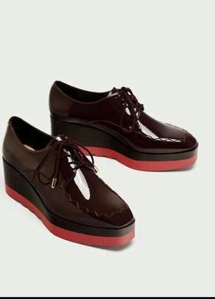 Стильные трендовые туфли на платформе