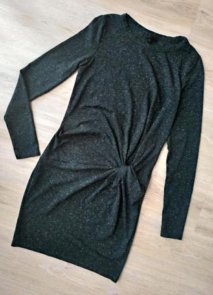Темно-зеленое платье top shop - xs/s