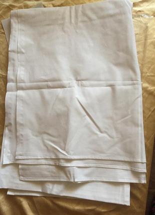 Простынь  белая новая 210*145