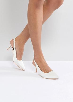 Атласные туфли лодочки с ремешком true decadence