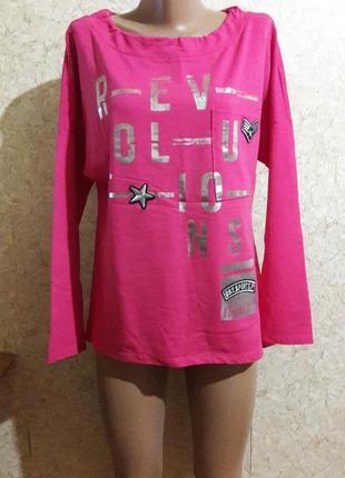 Стильная малиновая футболка со шнурком по горловине сзади