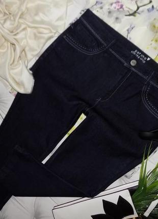 16 р-ра укороченные джинсы, индиго, высокая посадка