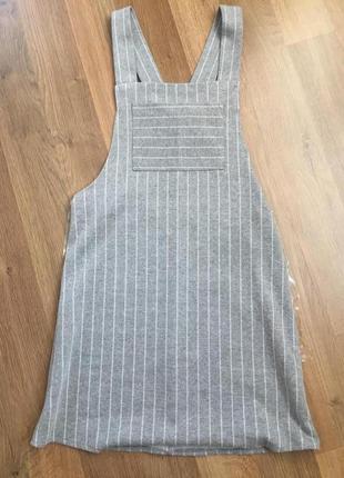 Трикотажное платье сарафан zara