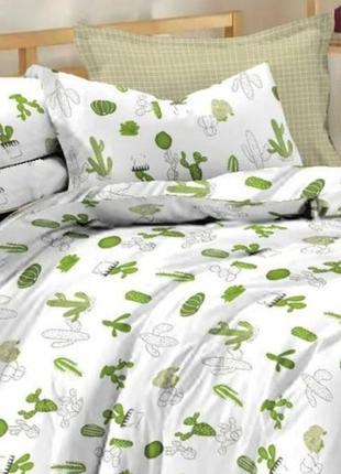 """Комплект постельного белья """"кактус"""" сатин , 100% хлопок"""