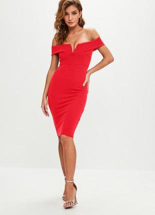 Шикарное платье миди на плечи