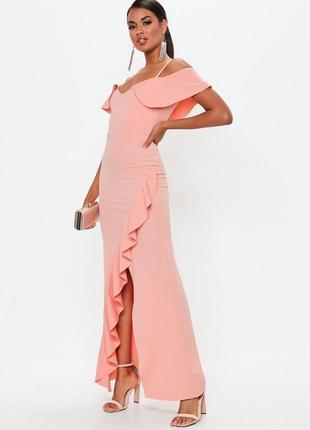 Нежное макси платье