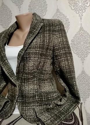Бесподобный пиджак  с латками на локтях от zara basic