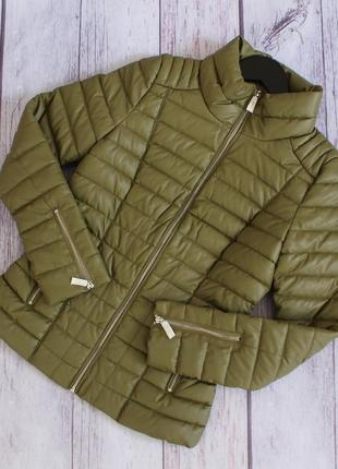 Брендовая куртка guess из эко-кожи 💚 новая! 100% оригинал.