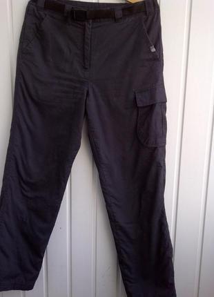 Треккинговые штаны карго karrimor uk 12 с подкладкой