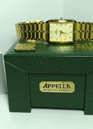 Швейцарские часы appella a-215. оригинал. позолота 18k gold