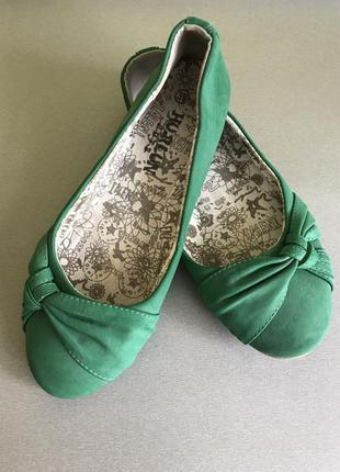 Мягкие удобные балетки туфли на низком ходу