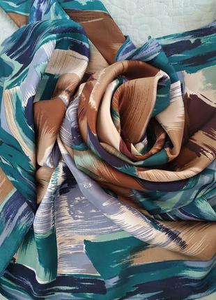 Шелковый акварельный платок