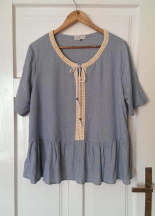 Стильна віскозна блуза від f&f, на р. xl/2xl