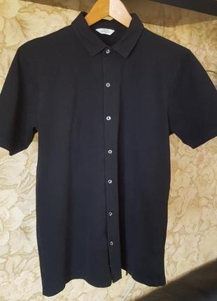 Черная спортивная рубашка поло next