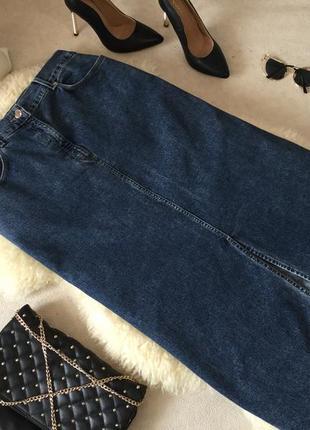 f0239452138 Супер стильная и крутая джинсовая юбка мом в пол с разрезом впереди 💄🥰💋